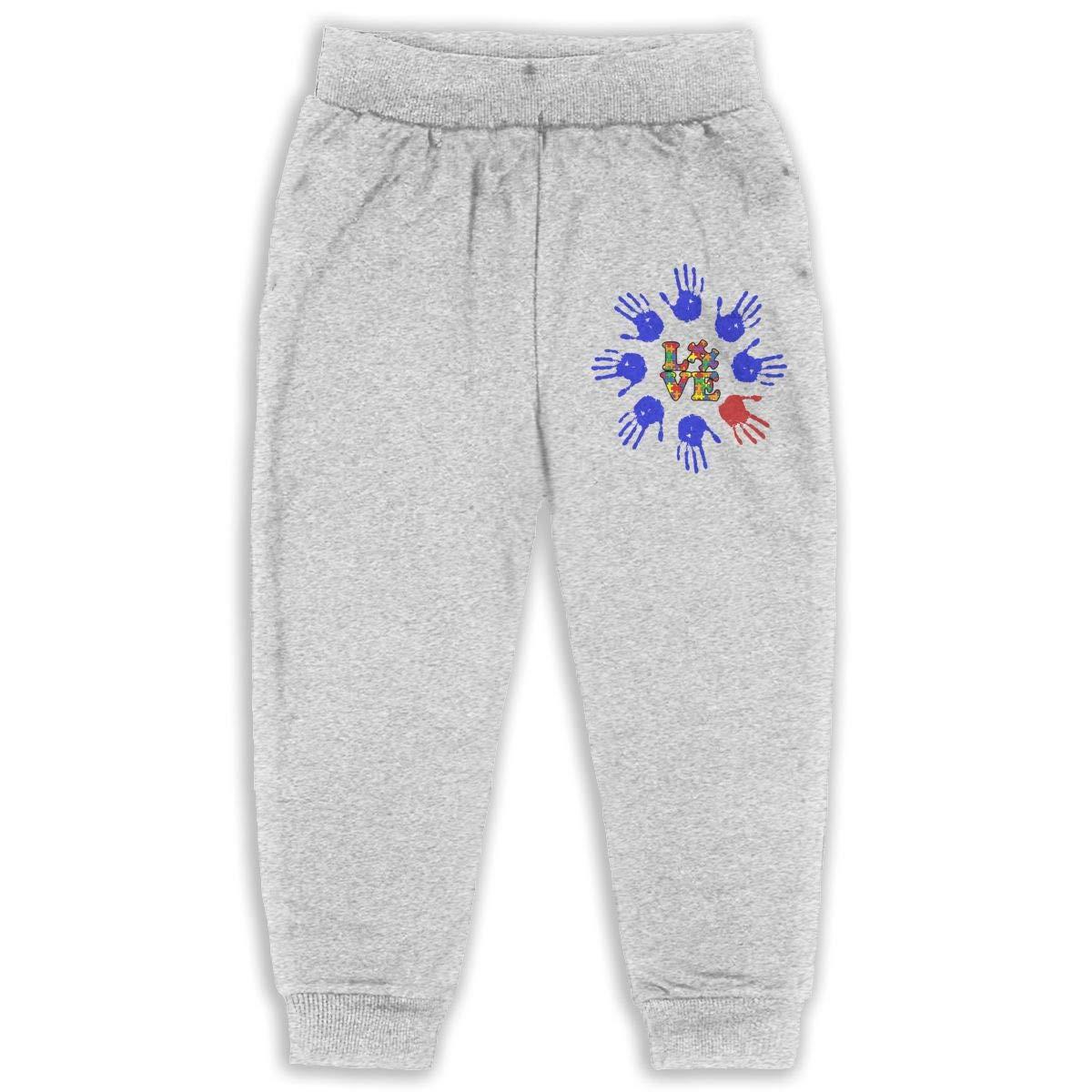 Soft Cozy Girls Boys Jersey Pant Love Autism Awareness Kids /& Toddler Pants