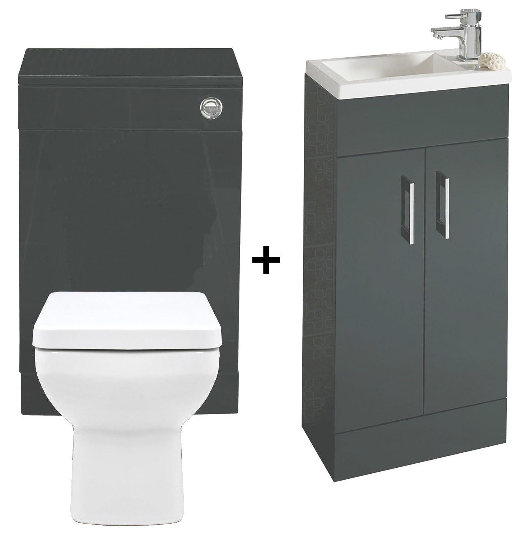 E-PLUMB Kelvin Anthracite 400 Bathroom Vanity Combination Unit ...