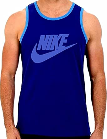 NIKE Ace Logo Tank Top Shirt - Mens Large - AA4022-455 (Blue)