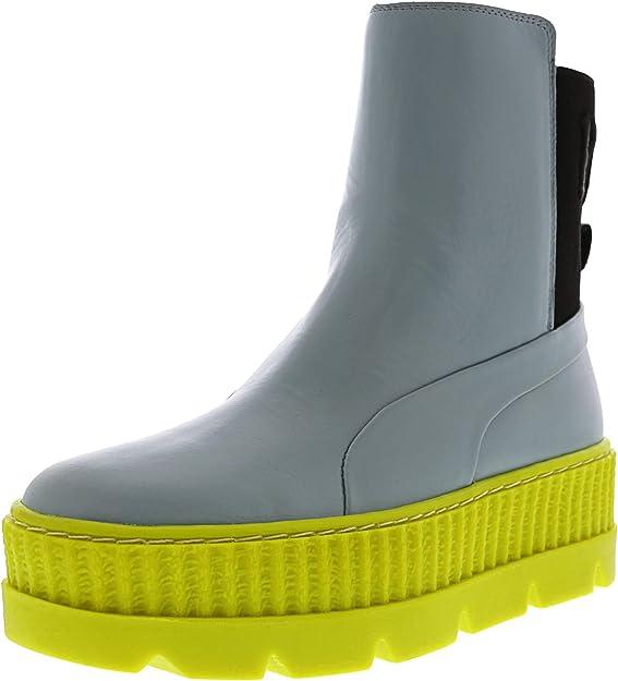 PUMA Women's Fenty x Chelsea Sneaker Boots, Sterling Blue/Black/Limeade, 5.5 B(M) US