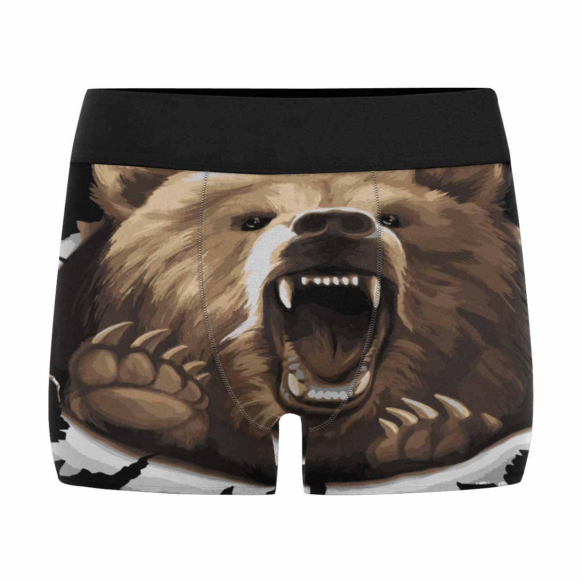 XS-3XL INTERESTPRINT Boxer Briefs Mens Underwear Angry Bear Roaring
