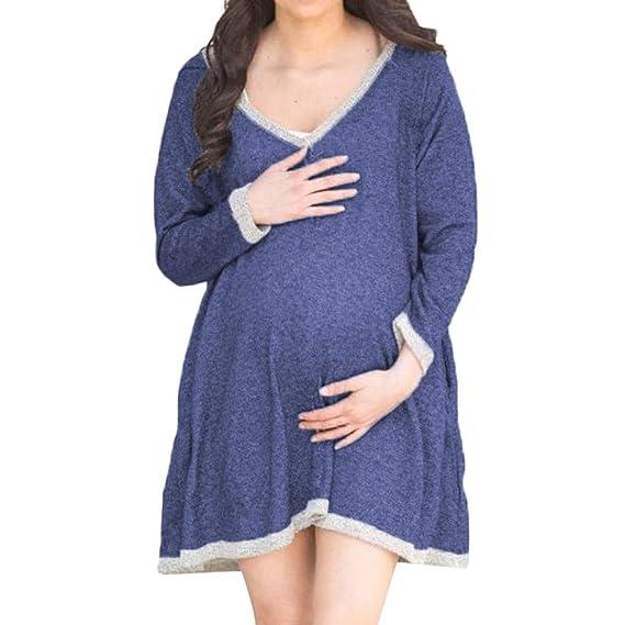 Lenfesh Damen Umstandsmode Kleid Lange Sommerkleider Maxi Umstandskleid Elegante Abendkleider Schwangerschafts Kleider Schwanger