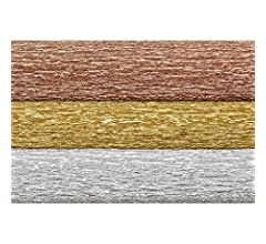 Lia Griffith Metallic Crepe Paper Roll LG11002 10.7-Square Feet Gold
