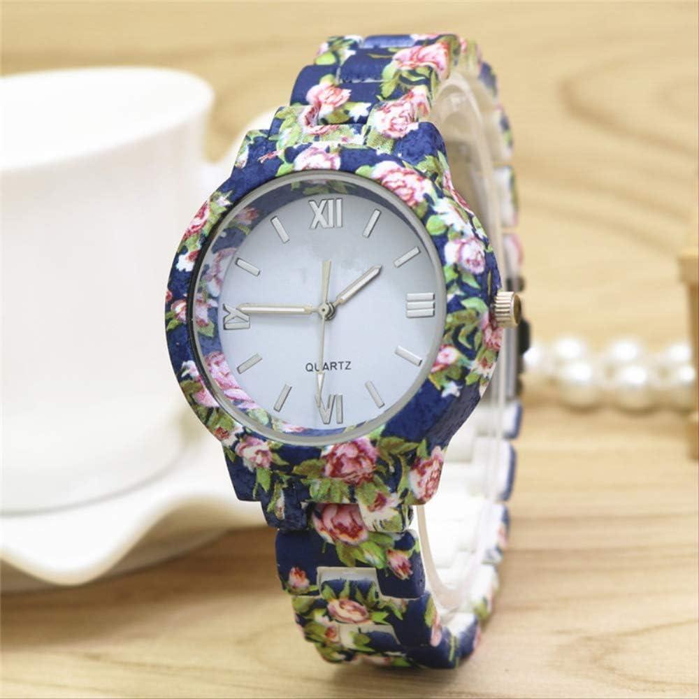 Mode Imprimé Rose Fleur Montre-Bracelet Robe Montre pour Femme De Haute Qualité en Céramique Doux Filles Bracelet Montres Conception Dames Bleu