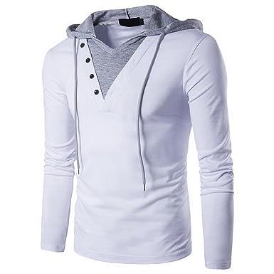 Rera Homme Hoodies Tops T-Shirt Manches Longues Elastique Slim Collant  Séchage Rapide Sport- 652c97004178