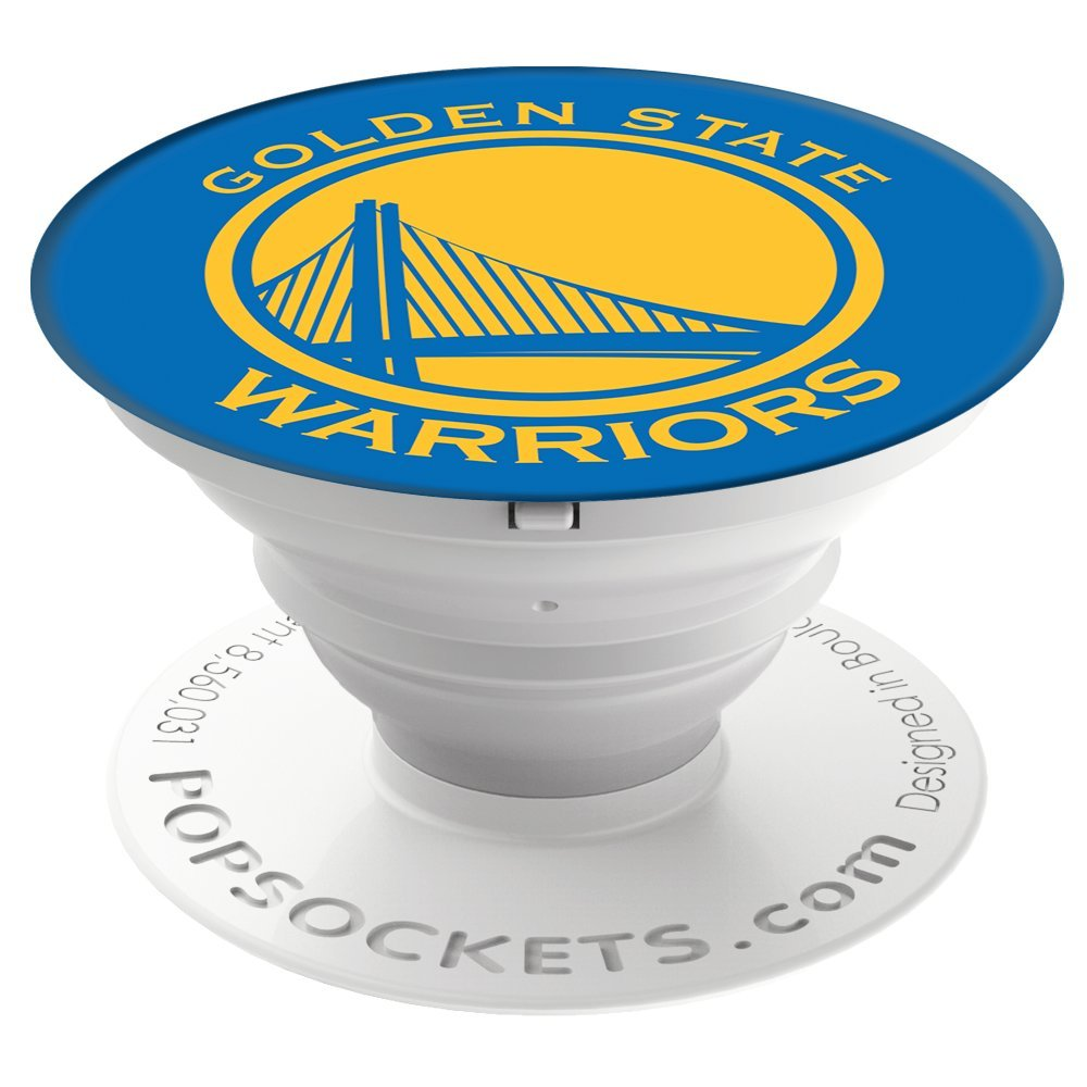 PopSockets Collapsible Grip and Stand for Phones and Tablets - Golden State Warriors by PopSockets (Image #1)