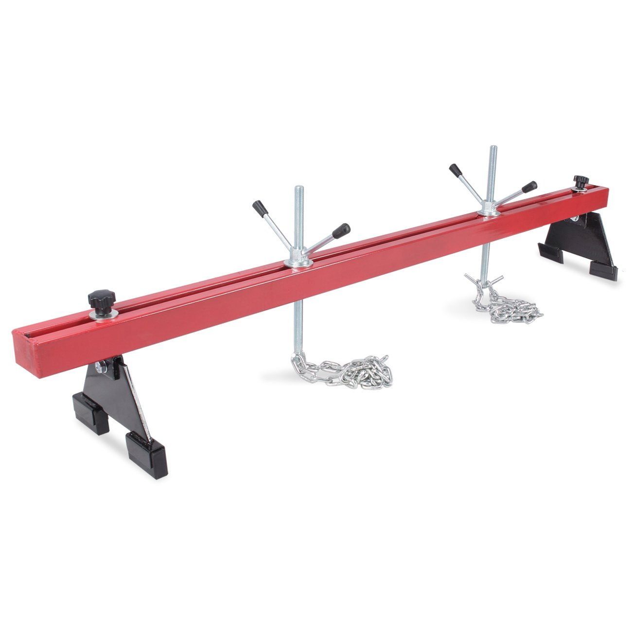 Arksen 1100lbs Capacity Engine Load Leveler Adjustable Support Bar for Transmission Repair w/ Dual Hook, Red
