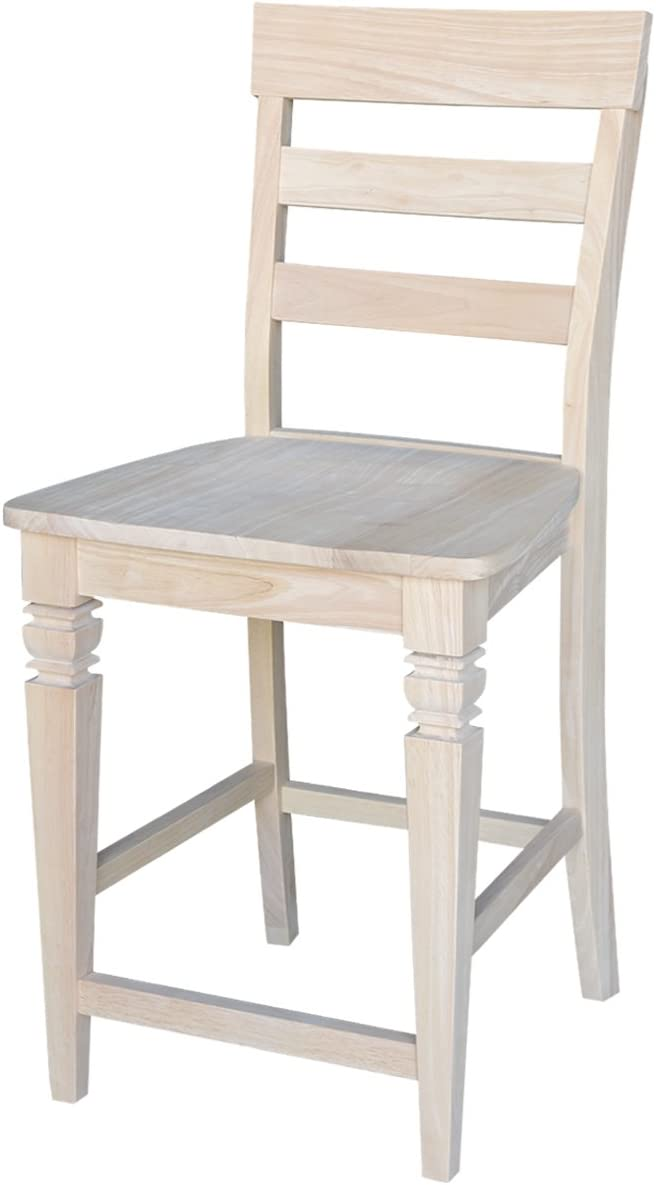 International Concepts Java Stool, 24-Inch SH, Unfinished