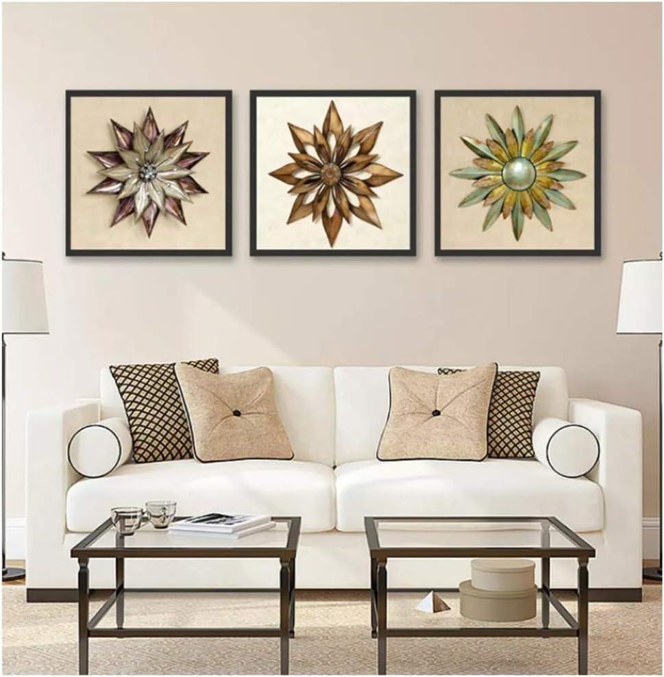 HSFFBHFBH Cuadro en Lienzo Imprimir Arte de la Pared Creativo Hierro Forjado Imagen Abstracta de la Flor para la Sala de Estar Oficina Pinturas Decorativas 30x30cm (11.8