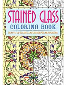 creative haven tiffany designs stained glass coloring book creative haven coloring books