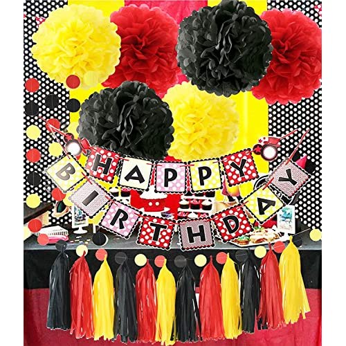 chic Mickey Mouse Theme Birthday Party Supplies Yellow Black