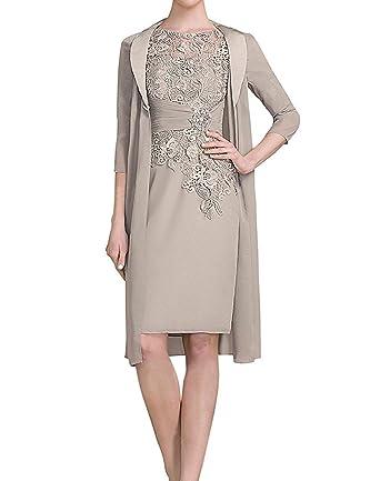 d276257b7c1cd8 ShineGown Mutter der Braut Kleider Chiffon Jacke Spitze Applique Bodies für  Formal: Amazon.de: Bekleidung