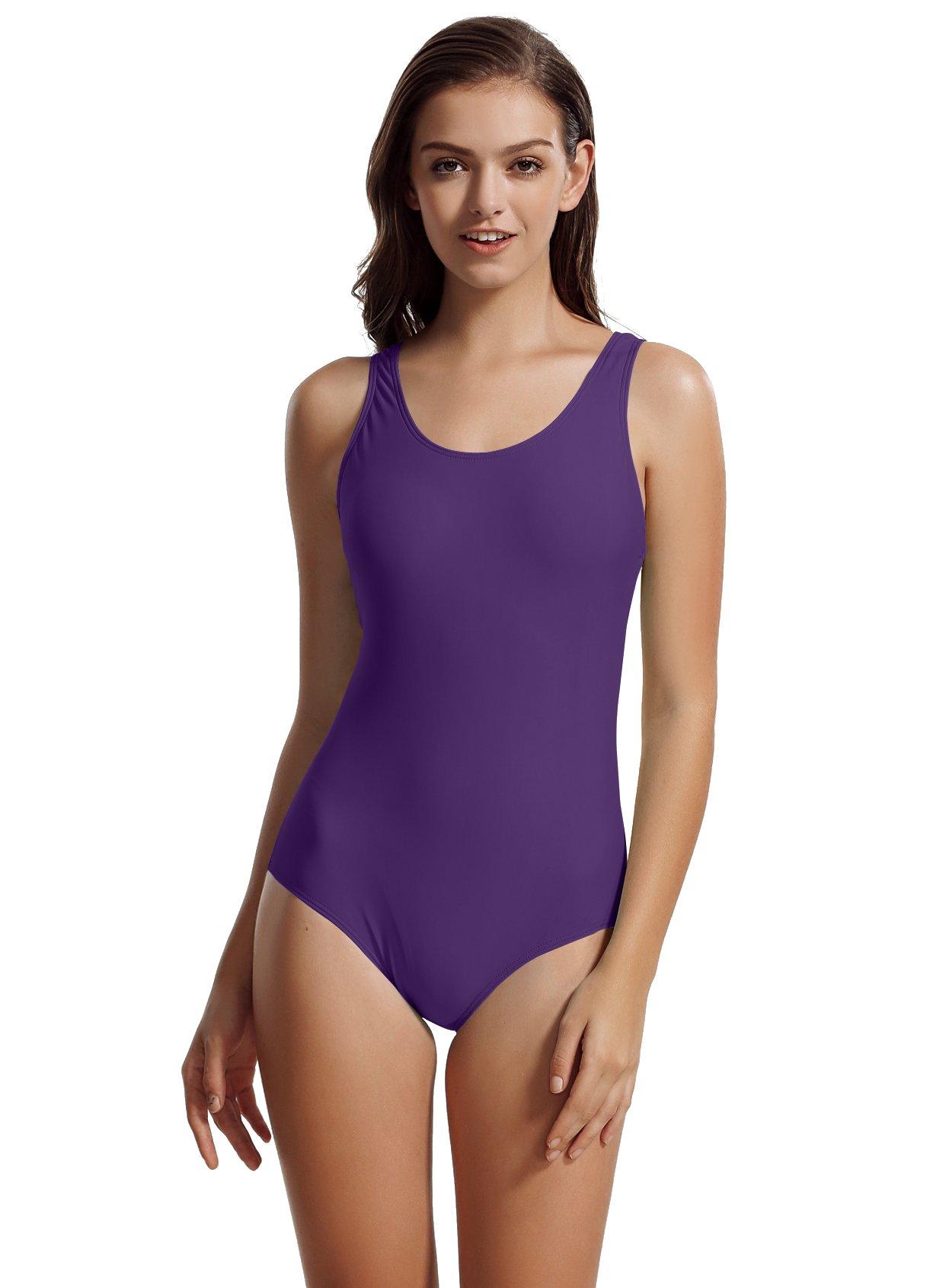 0bad9d3978339 zeraca Women's Sport Racerback One Piece Swimsuit Swimwear product image