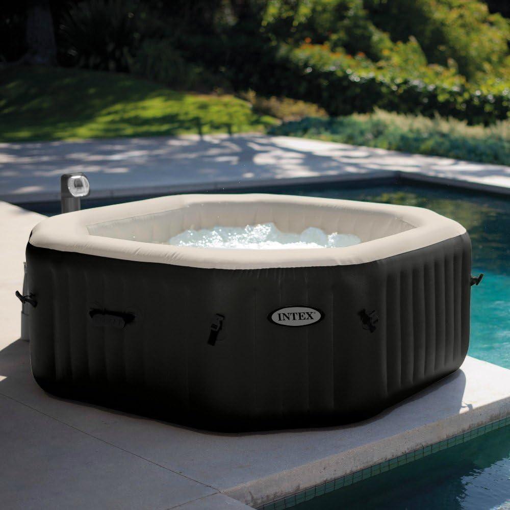 Intex PureSpa Jet & Bubble Deluxe Portable Hot Tub, Octagon, 79