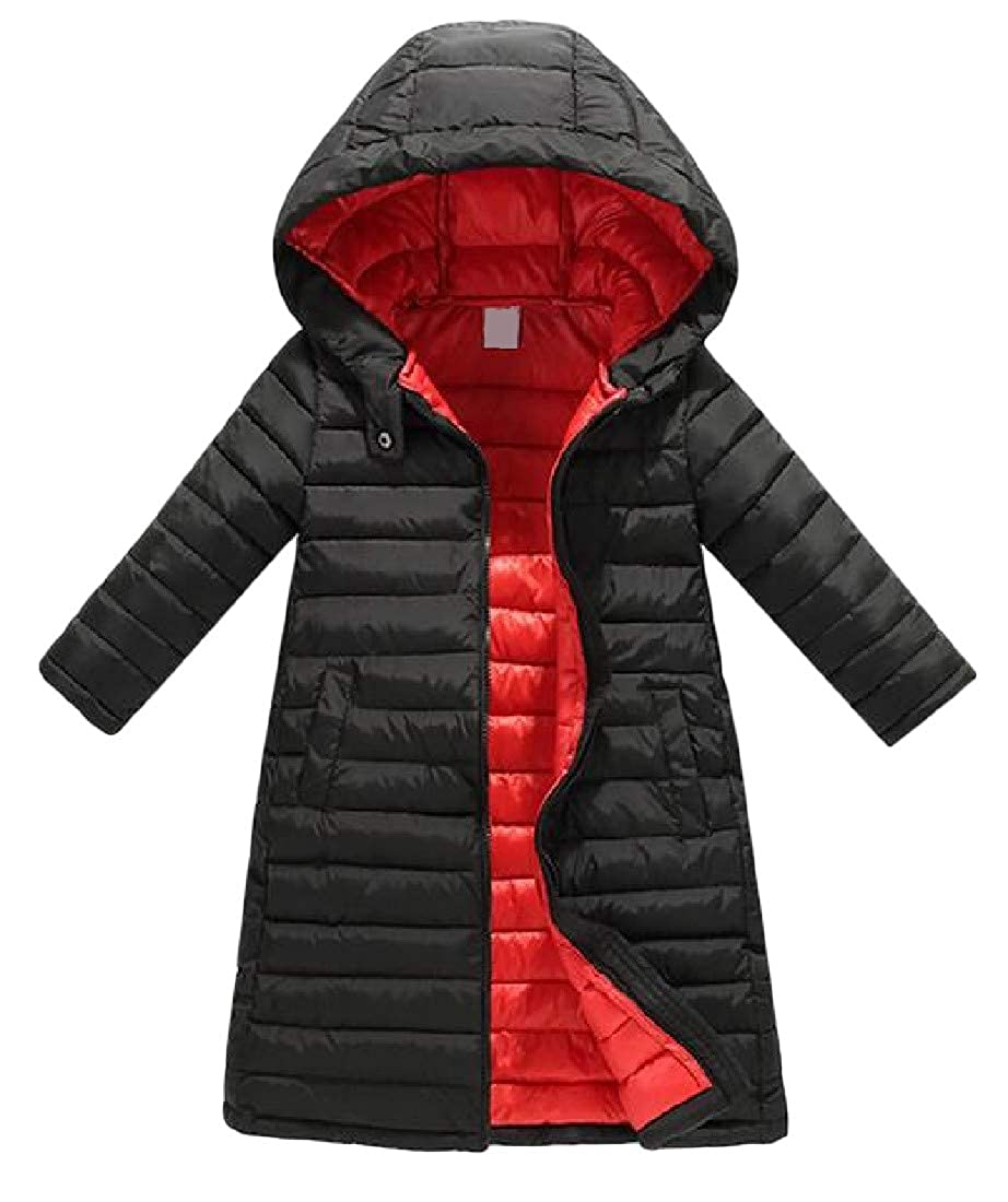 Cromoncent Boys Girls Winter Warm Puffer Zip-Up Outwear Parkas Coats Jacket