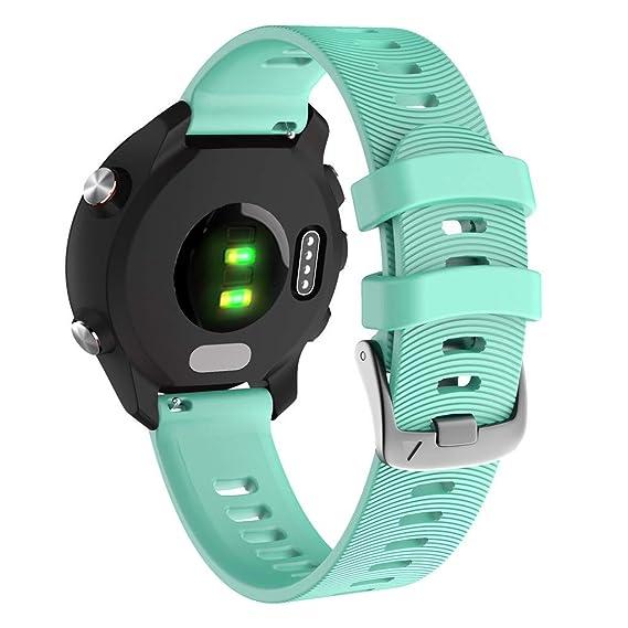 Baiomawzh Correas para Reloj Compatible con Garmin Forerunner 245 ...
