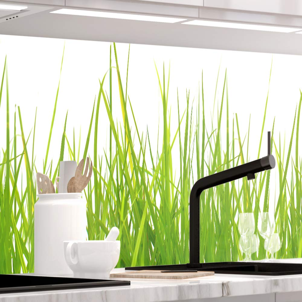 StickerProfis Küchenrückwand selbstklebend Premium Wiesen Gras 60 x 280cm DIY - Do It Yourself PVC Spritzschutz