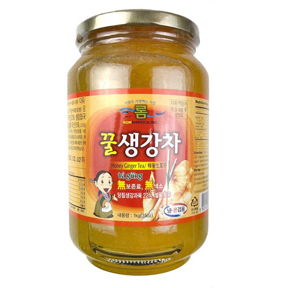 ROM AMERICA Korean HONEY GINGER TEA and JAM 1kg (35oz) 꿀 생강 by ROM AMERICA