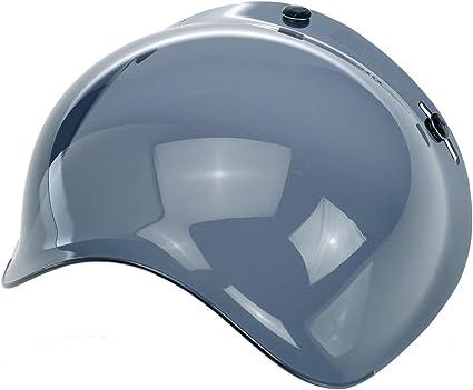 homologada para casco jet compatible con cascos Biltwell AFX con 3/botones Bandit Bell Nolan Visera burbuja universal AGV MULTI TAGLIA Azzurra Yam Bubble DMD
