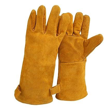 nuzamas 1 par de guantes de soldadura, 35 cm/13.7-inch longitud hombro
