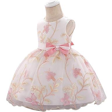 Amazon.com: Vestido bordado para bebé de 1 año de antigüedad ...