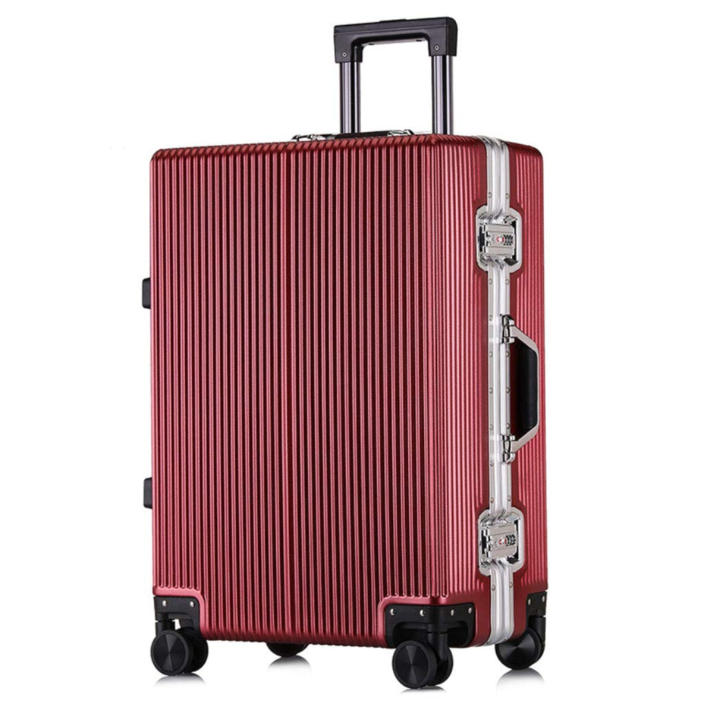 トロリーカスタムダブルローキャスター荷物ビジネス旅行20インチチェックインボード。 (Color : ワインレッド, Size : 20 inches)   B07QYQJXXP
