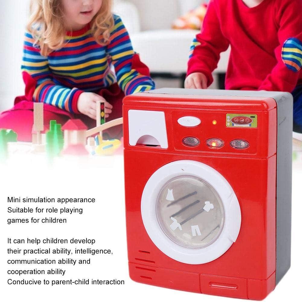 Rojo Zerodis Mini Juguete para Lavadora simulaci/ón de electrodom/ésticos electrodom/ésticos Juego de simulaci/ón de electrodom/ésticos para ni/ños peque/ños
