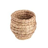 tizi Bird Nest Woven Natural Straw Parrots Pigeon Swallow Small House Cage Handmade
