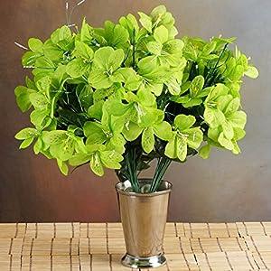 BalsaCircle 144 Lime Green Silk Mini Primroses - 6 Bushes - Artificial Flowers Wedding Party Centerpieces Arrangements Bouquets Supplies 11
