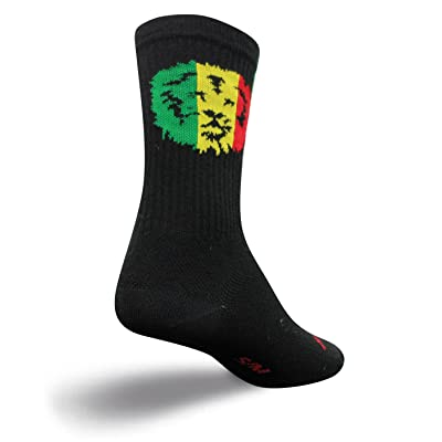 """SockGuy Crew 6"""" Socks, Ja King, S/M (M 5 9, W 6 10) comes with a sock ring"""