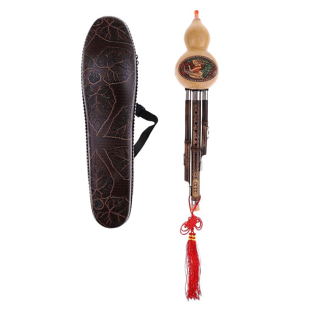 Fityle Chinese Flute Hulusi Gourd Flauta Bamboo Pipes Cucurbit Musical Instruments C Key Folk Music