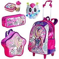 Kit Mochila Infantil Barbie Aventura nas Estrelas Sestini Lancheira Estojo Rosa