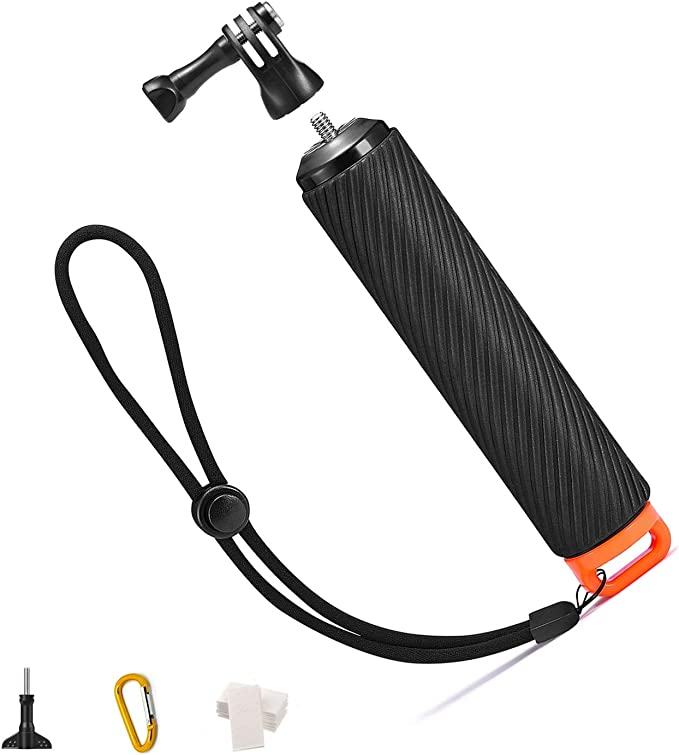 Amazon Com Orbmart Waterproof Floating Handle For Gopro 5 Camera Floating Hand Grip Handle Tripod Stick Pole For Gopro Hero 6 Black Gopro Hero 2018 6 5 4 3 Akaso Yi Camera And Other