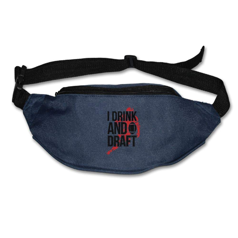 Ada Kitto I Drink And Draft Mens&Womens Lightweight Travel Waist Bag For Running And Cycling Navy One Size