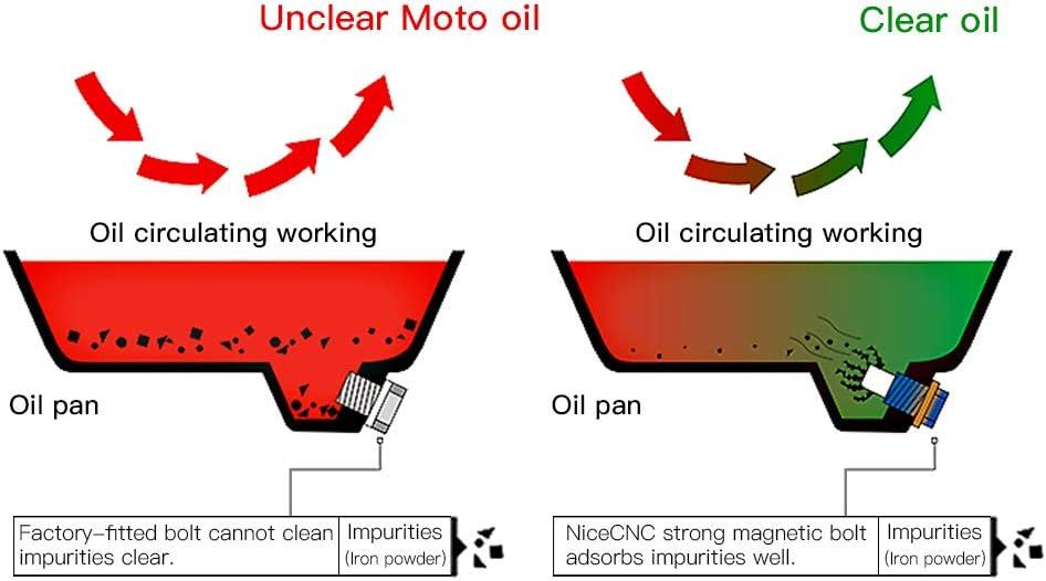 h2racing M22/x 1,5/CNC alluminio magnetica di olio vis-boulons