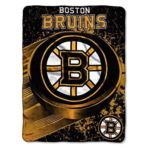"The Northwest Company 1NHL/05900/6001/AMZ NHL Boston Bruins Ice Dash Micro Raschel Throw, 46"" x 60"""