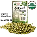 USDA Organic Mung Bean Sprouting Seed: 12Oz, Organic Dried Mung Beans for Sprouts, Garden Planting, Chinese & Asian Cooking, Soup & More