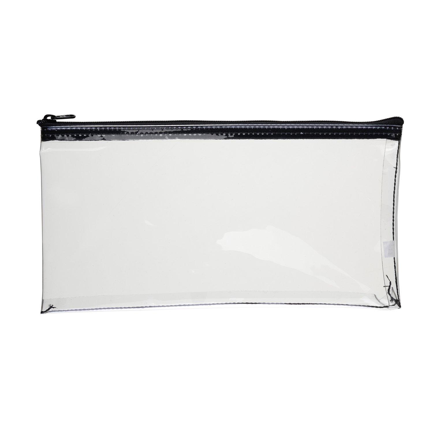 MMF Industries Zippered Cash Bag, 6 x 11 Inches, Clear (234041720R)