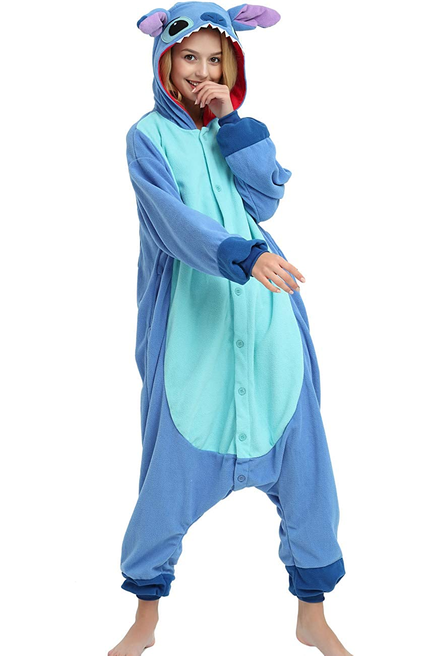 abaf2a3516ee Amazon.com  Es Unico Stitch Onesie Costume for Adult Women