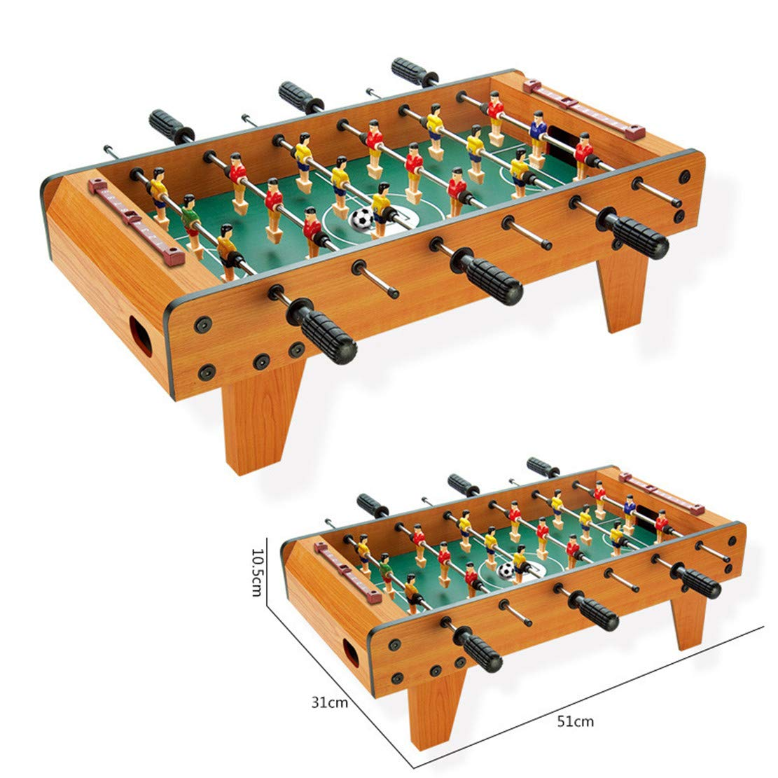 MSTQ Large Football Table Wooden Indoor Soccer Table 6 Football Table Double Battle Desktop Board Game Children Sports Toys 9 Models (66006, L) by MSTQ