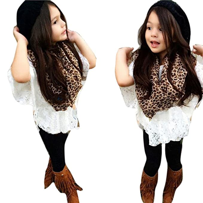 Amazoncom Amatm 4pcs Baby Girls Vest Lace Bat Shirt