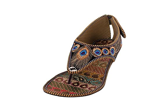 Myra Women Flats Ethnic Footwear at amazon