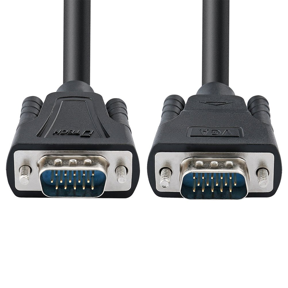 5m DTECH Heavy Duty 15 Feet SVGA VGA Computer Monitor Cable Cord 1080p High Resolution