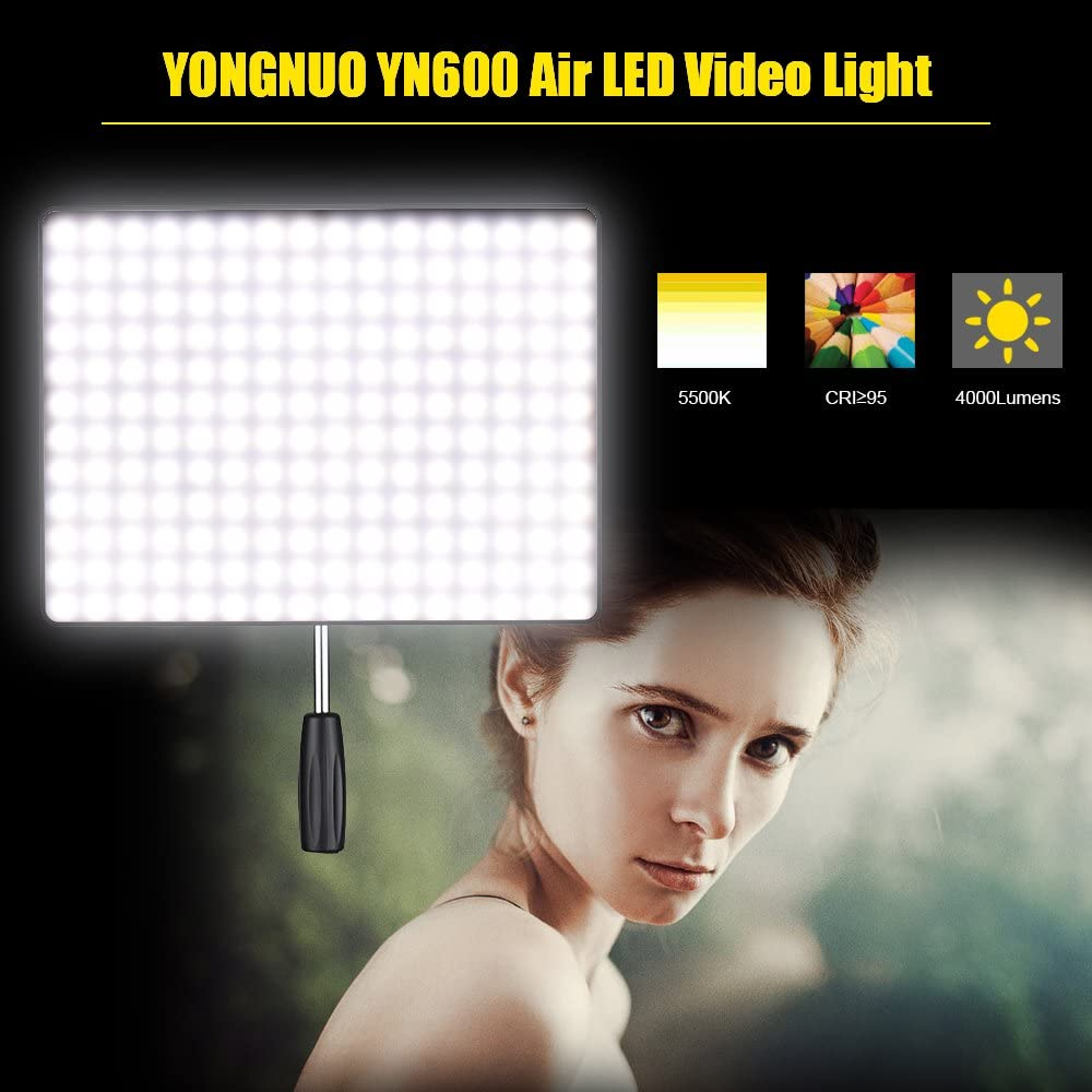 PinShang YONGNUO YN600 Air 5500K LED Video Light Adjustable Brightness Photography Lighting Studio Light EU Plug