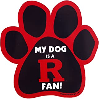 product image for NCAA Rutgers Scarlet Knights Paw Print Car Magnet
