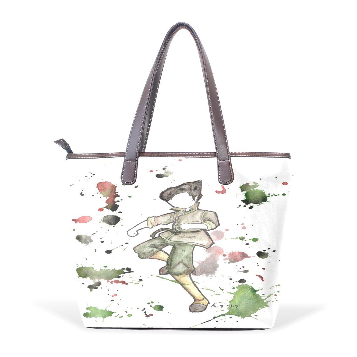 Ye Store Outline Lady PU Leather Handbag Tote Bag Shoulder Bag Shopping Bag