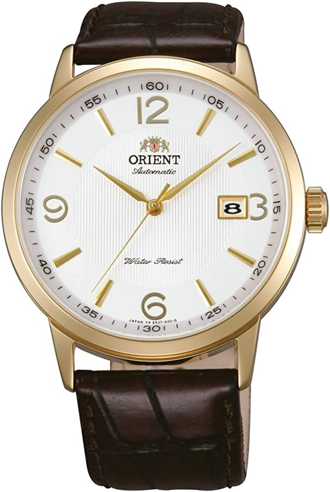 Orient Reloj Analógico para Hombre de Automático con Correa en Cuero FER27004W0