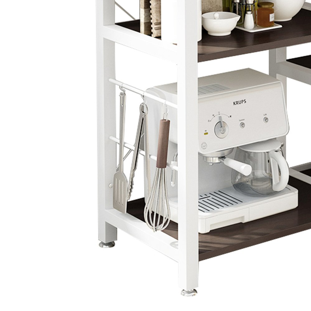 Mixcept Multi-purpose 3-tier Kitchen Baker's Rack Utility Microwave Oven Stand Storage Cart Workstation Shelf W5S-BK-MI (Black) by Mixcept (Image #9)