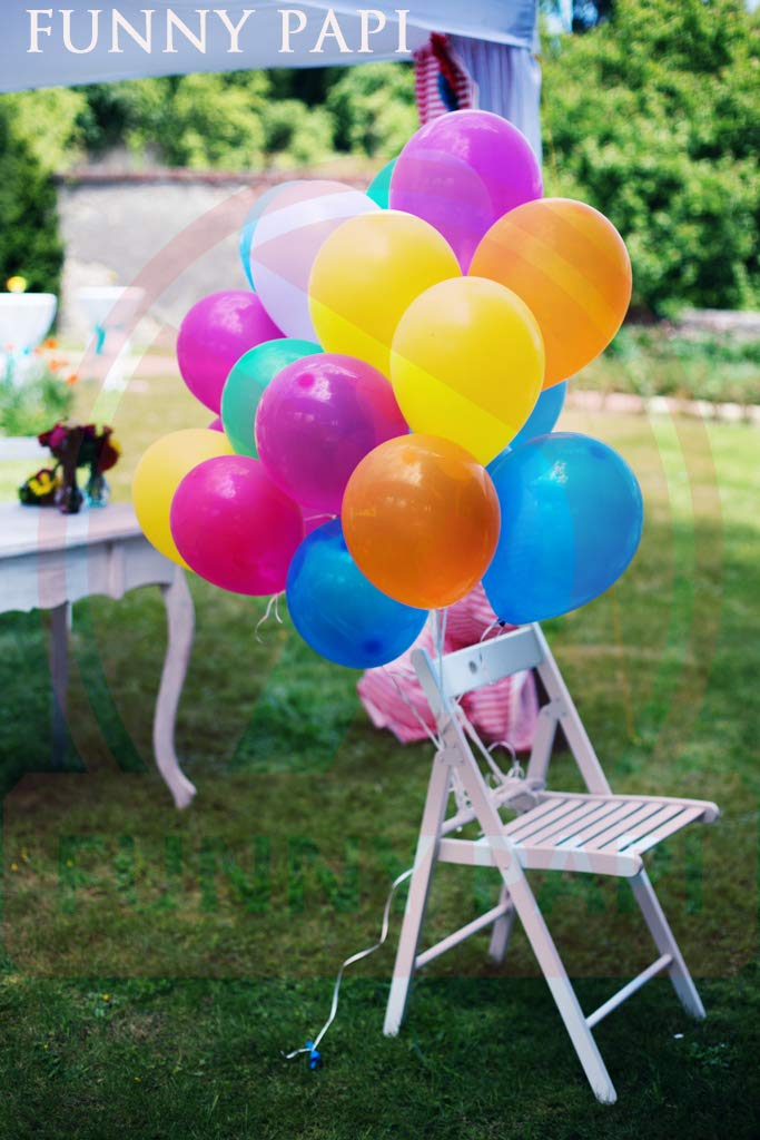 Funny Papi Party Balloons - Assorted 12 Inches Strong Balloons for Helium Or Air - 10 Colors Latex Balloon - 100 pcs