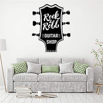Pegatinas Decorativas Pared Rock Roll Música Tienda de guitarra ...